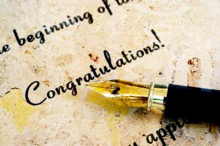 Congratulation photo