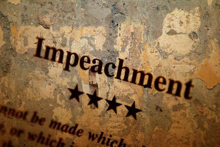 precedent: Impeachment Stock Photo