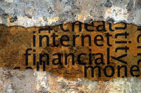 stock price losses: Internet financial concept