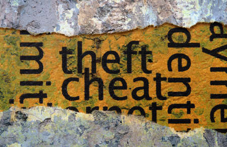 cheat: Theft and cheat Stock Photo