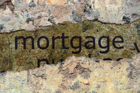 Mortgage concept photo