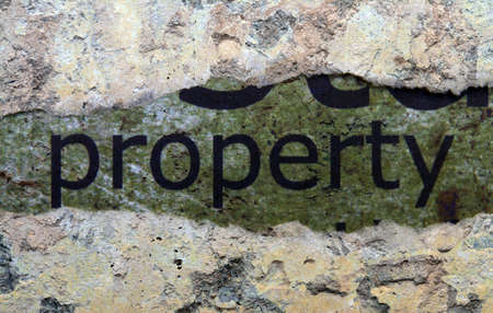 goffer: Property concept Stock Photo
