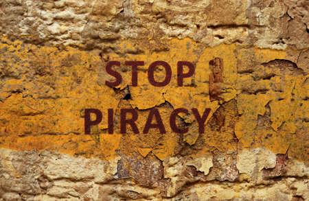 Stop piracy photo