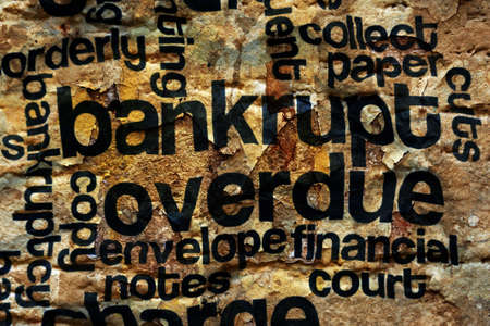 overdue: Bankrupt and overdue concept