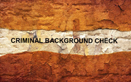 compensated: Criminal background check Stock Photo