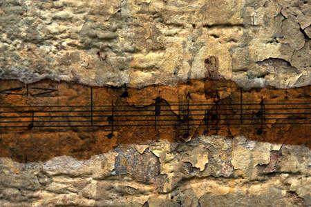 Muziek blad Stockfoto