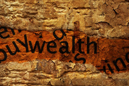 uncovering: Wealth concept