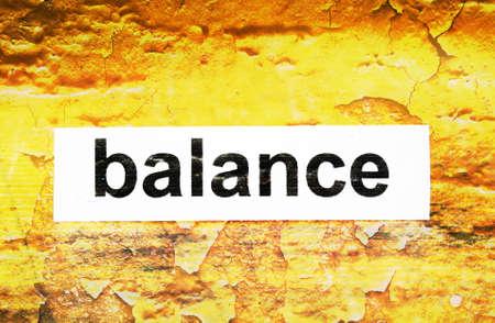 obligee: Balance text on grunge background