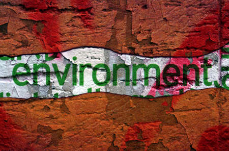 Environment text on grunge background photo