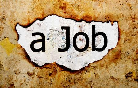 Job text on grunge background photo