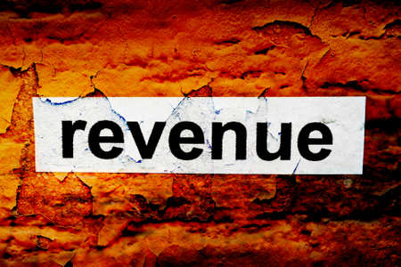 defining: Revenue grunge concept