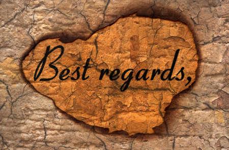 best regards: Best Regards grunge concept