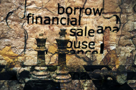 Borrow financial sale chess concept photo