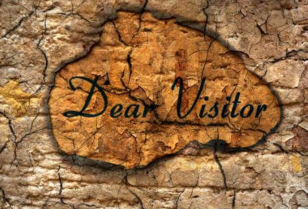 my dear: Dear visitor