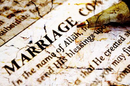 marriage certificate: Islamic marriage certificate
