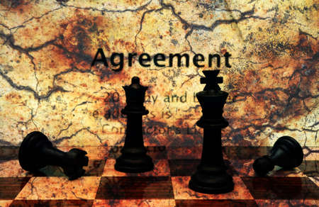 Agreement grunge concept photo