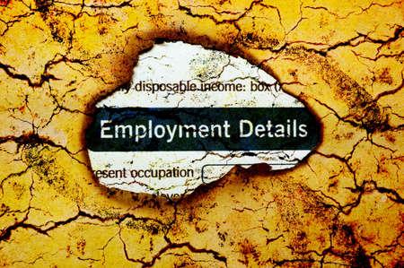 Employment details photo