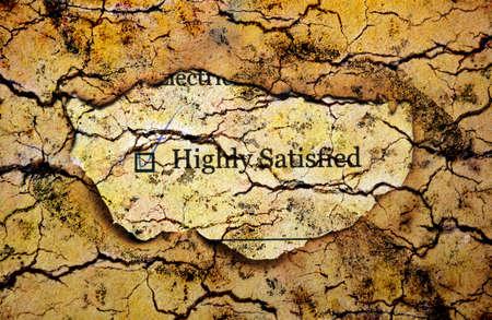satisfied: Survey form - satisfied Stock Photo