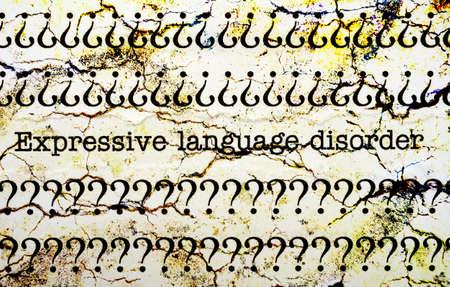Expressive language disorder photo
