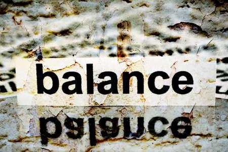 obligee: Balance grunge concept