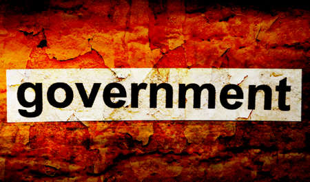 citizenry: Government grunge concept Stock Photo