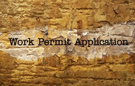 permit: Work permit application