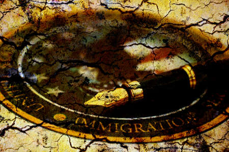 exile: Immigration Stock Photo