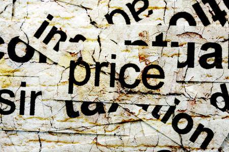 elasticity: price word cloud Stock Photo