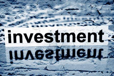 installment: Investment text on grunge background