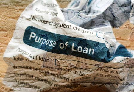 crinkled: Crinkled loan form