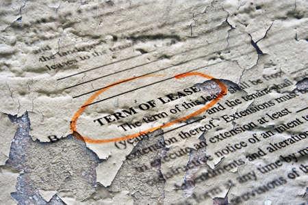 guarantor: Term of lease Stock Photo