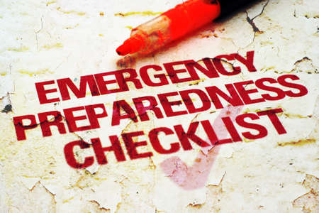 Emergency checklist Stockfoto
