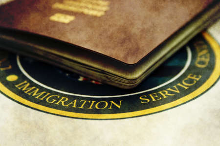 Immigration Foto de archivo