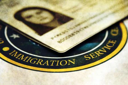 Immigration Stockfoto