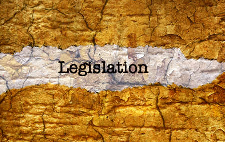 explanations: Legislation grunge concept Stock Photo