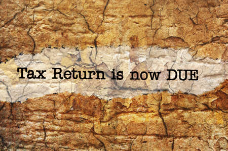 due: Tax return is now due