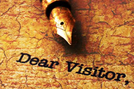 dear: Dear visitor