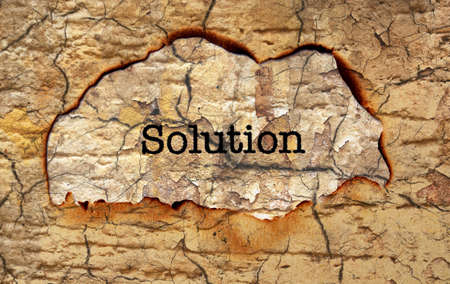 uncovering: Solution text on paper hole