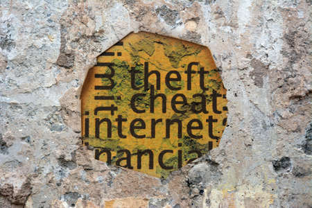 Internet cheat grunge concept photo