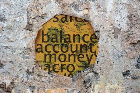 balanced budget: Balance account money