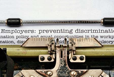 hassle: Employers discrimination