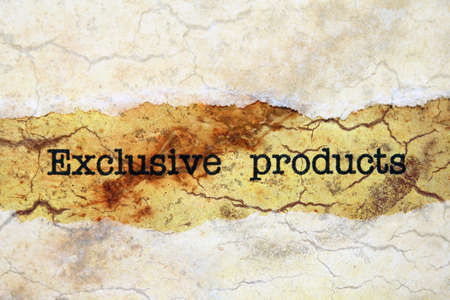 exclusive: Exclusive products Stock Photo