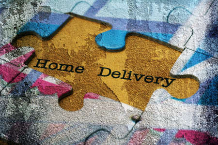 home delivery: Home delivery puzzle concept Stock Photo