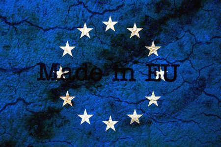 made in belgium: Made in EU grunge concept Stock Photo