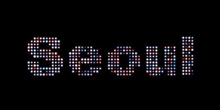 seoul: Seoul led text Stock Photo