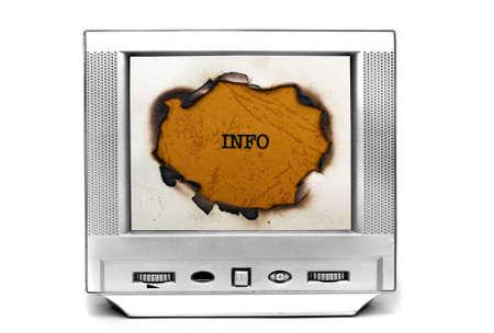 Information on TV photo