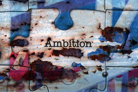 ambition: Ambition puzzle concept