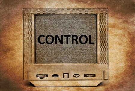 tyranny: TV control concept
