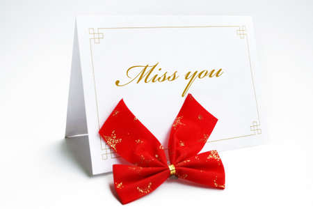 miss you: Miss you card