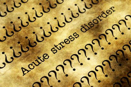 desorden: Trastorno de estrés agudo
